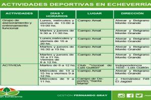 EE CONTINÚA EL CICLO DE ACTIVIDADES DEPORTIVAS EN ECHEVERRÍA