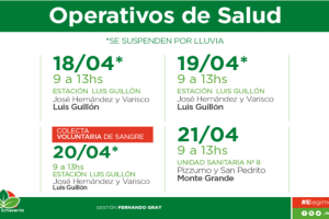 EE CONTROLES DE SALUD Y COLECTA VOLUNTARIA DE SANGRE EN LG Y MG