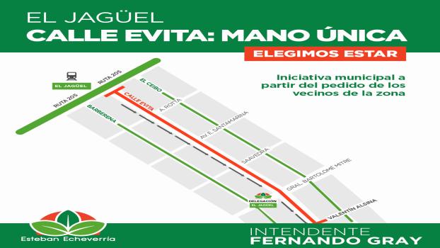 EE LA CALLE EVITA DE EL JAGÜEL SERÁ MANO ÚNICA