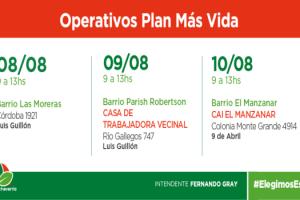 EE OPERATIVOS DE ASISTENCIA ALIMENTARIA Y REEMPADRONAMIENTO EN LG Y 9 DE ABRIL