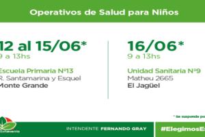 EE Operativos de salud- Monte Grande y El Jagüel