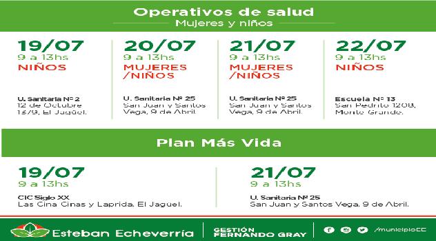 EE Plan Más Vida - Operativos de salud- Cronograma