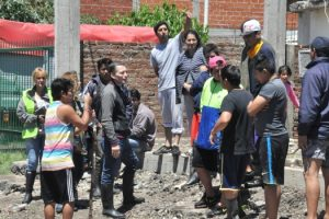 Fernando Gray recorre las zonas inundadas 4-11