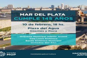 MGP - Acto 145 años de fundacion de Mar del Plata 1