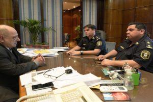 MGP - Arroyo reunido con subcomisario Cristian Arbini