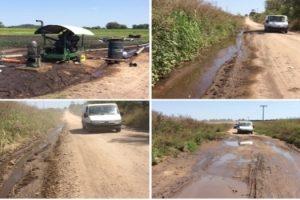 MGP- Batan extraccion de agua subterranea y daños en la calle