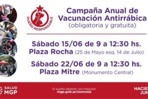 MGP - Campaña Anual de Vacunación Antirrábica obligatoria y gratuita de mascotas