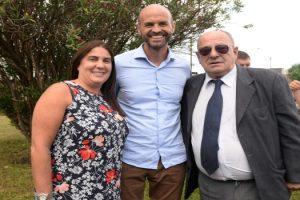 MGP- Carlos Arroyo junto al ministro Dietrich y la secretaria Lopez Menendez
