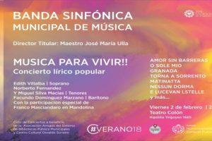 MGP - Cultura - Gala Lirica de musica popular de la Banda Sinfonica en el Colon
