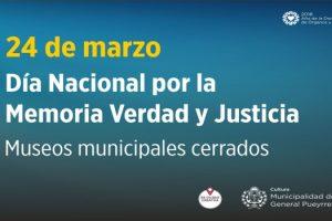 MGP - Museos municipales en Día Nacional por la Memoria Verdad y Justicia