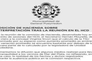MGP POSICION DE HACIENDA SOBRE INTERPRETACION EN EL HCD