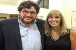 MGP Silvana Rojas junto al ministro Avelluto