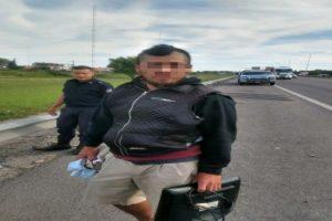 MS Detuvieron al loco de la metralleta en el camino del Buen Ayre (1)